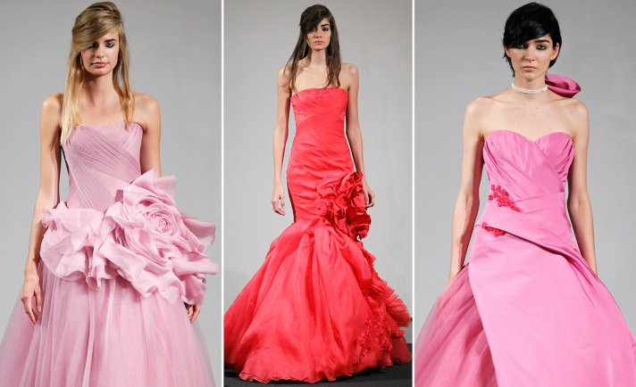 Vera Wang Fall 2014 Bridal Collection All About Pink