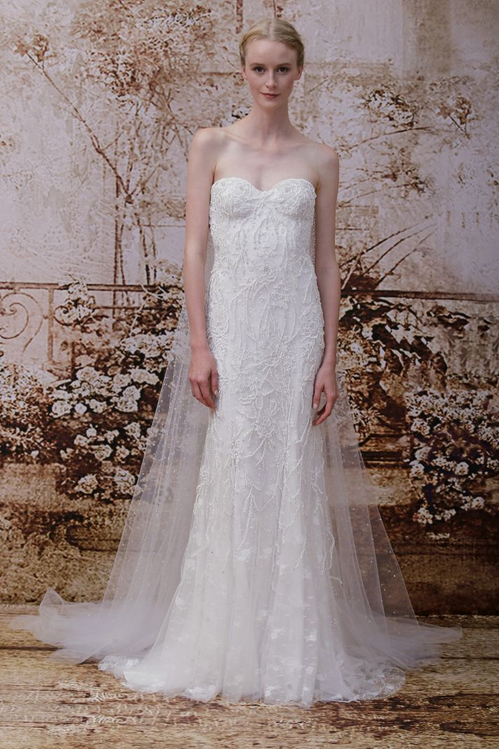 Wedding dress by Monique Lhuillier Fall 2014 bridal Look 19