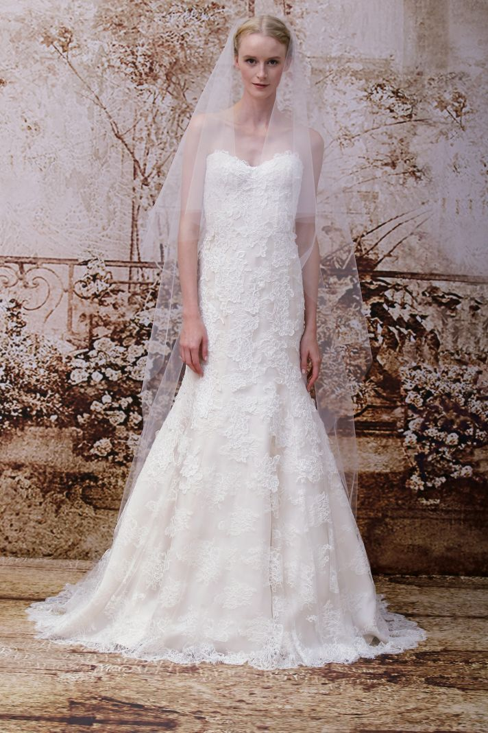 Wedding dress by Monique Lhuillier Fall 2014 bridal Look 29