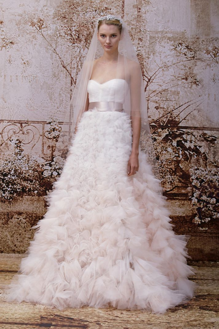 Wedding dress by Monique Lhuillier Fall 2014 bridal Look 35