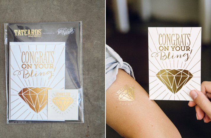 gold bling temporary wedding tattoo favors