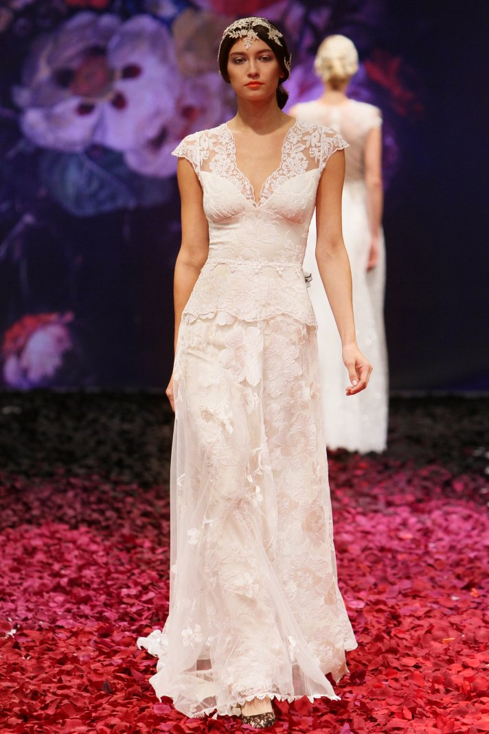 Rachel wedding dress by Claire Pettibone 2014 Still Life bridal collection