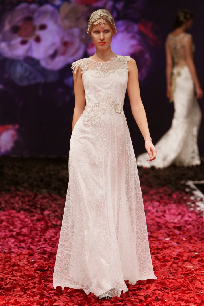 Gossamer wedding dress by Claire Pettibone 2014 Still Life bridal collection