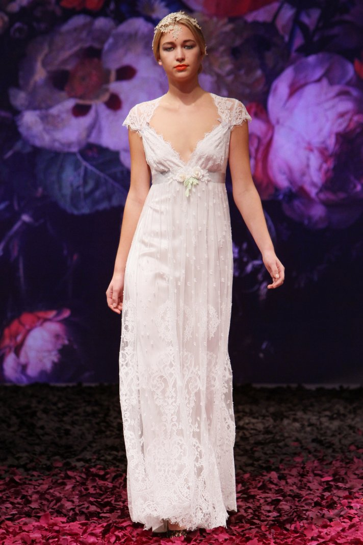 Minuet wedding dress by Claire Pettibone 2014 Still Life bridal collection
