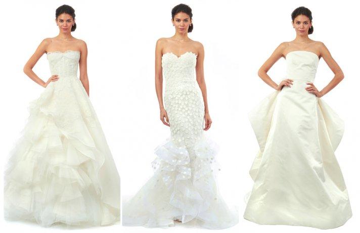 Oscar de la renta wedding gowns Fall 2014 bridal