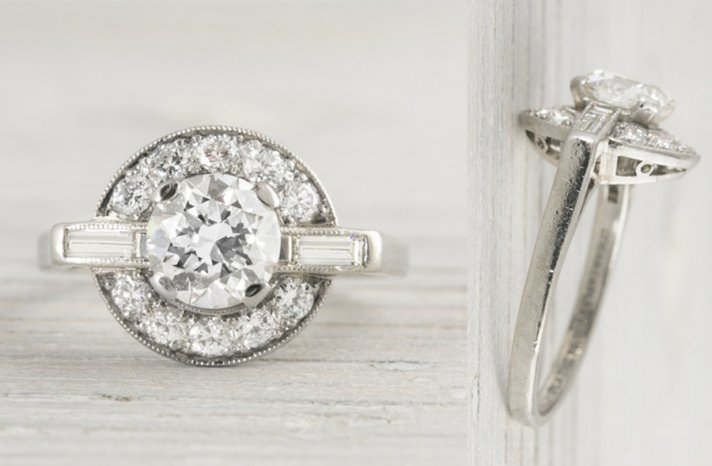 art deco engagement ring for brides something old 1