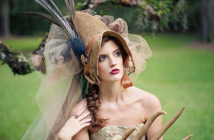 gothic romance wedding headpiece