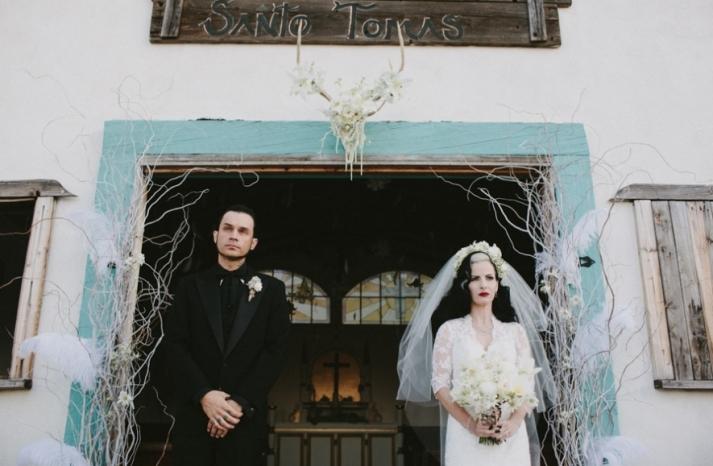 Portland real wedding bride and groom portrait