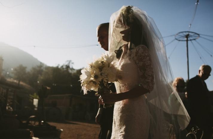 Portland real wedding mysterious bridal portrait