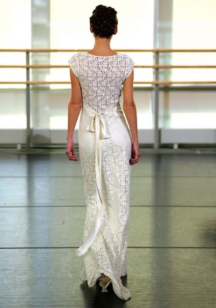 Crochet Yolanda wedding dress by Claire Pettibone