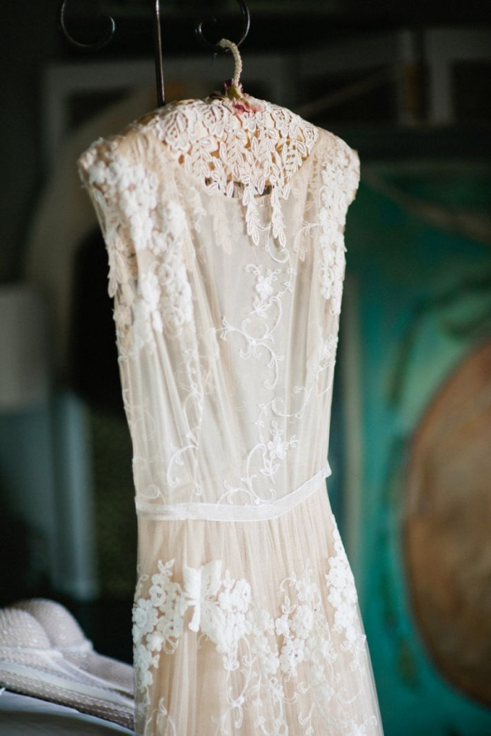 The crocheted wedding dress onewed for Ivory lace wedding dresses