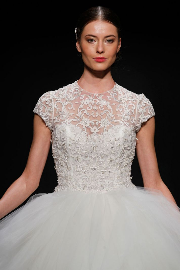 3407 wedding dress by Lazaro Spring 2014 Bridal