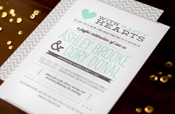 modern love story wedding invitations