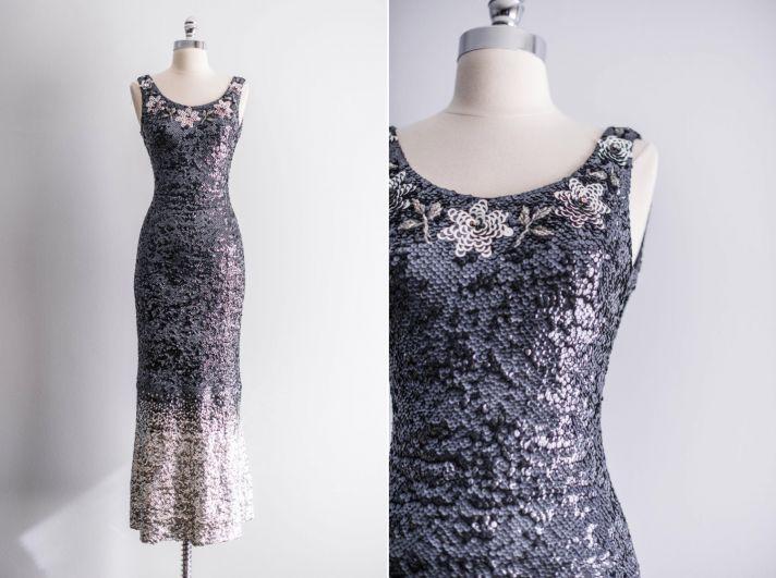 ombre sequin bridesmaid dress