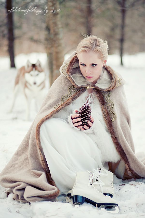 enchanted bridal cape for winter