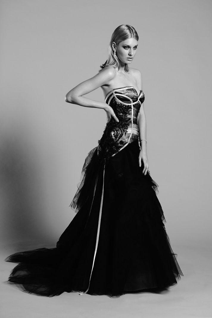 Indigo wedding dress by Mariana Hardwick 2014 bridal