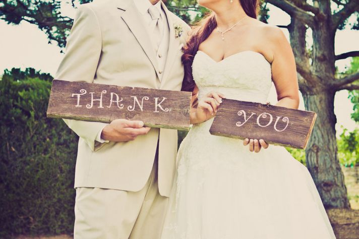 Thank you wedding day picture