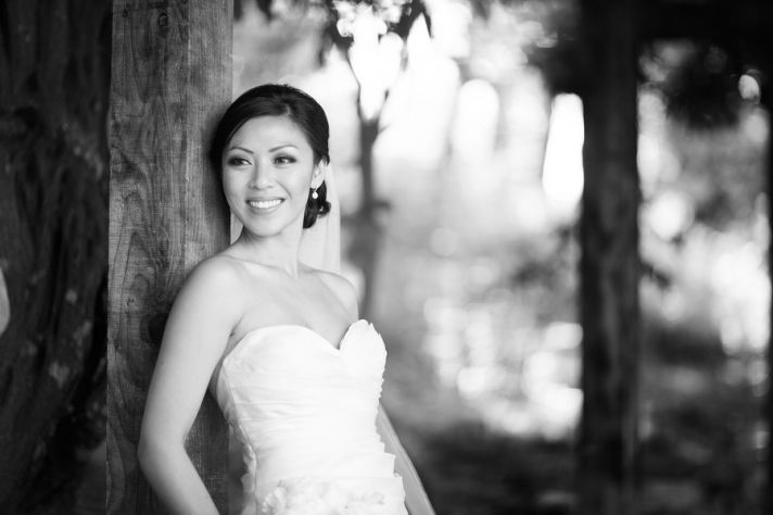 Bride at Dynasty Restaurant in Palo Alto