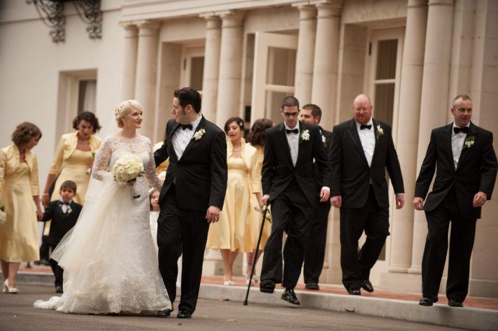 1920s wedding bridal party