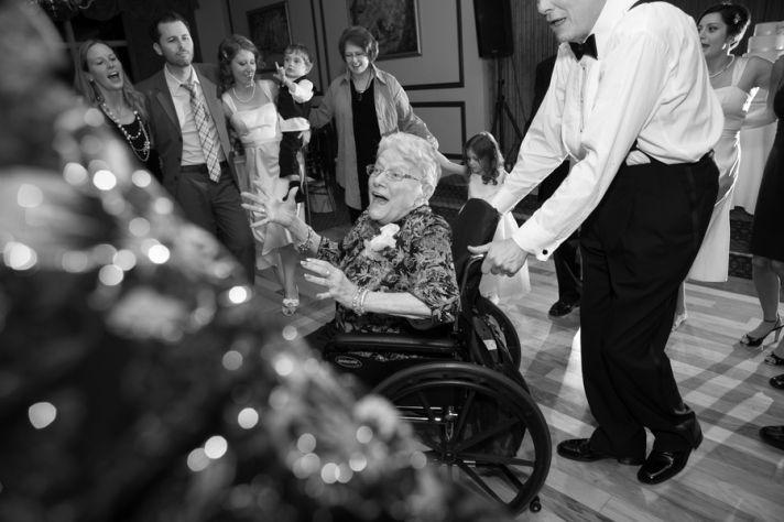 Real wedding grandma dancing
