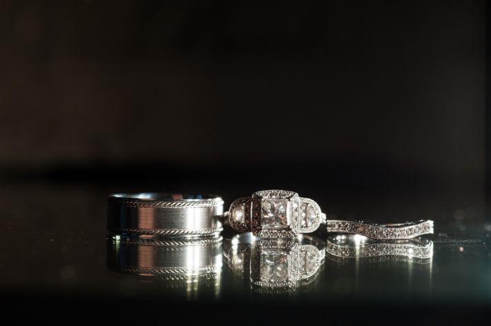Vintage wedding ring shot