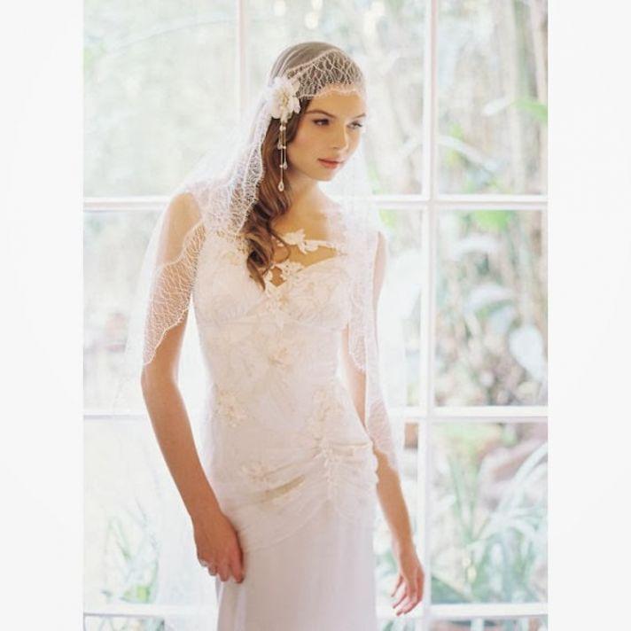 Silk Tulle Veil by Erica Elizabeth Design