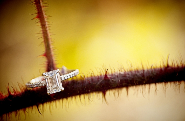 Ring shot on a stem