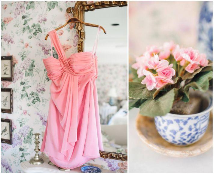Bridesmaids dress in pink