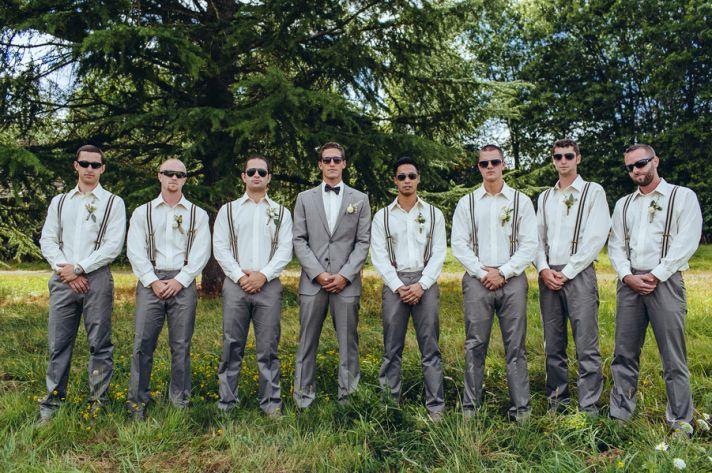 Cool groomsmen in glasses