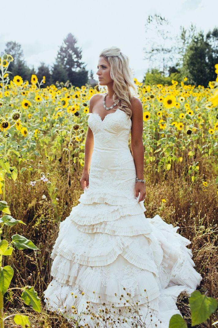 Real Bride in gorgeous mermaid gown