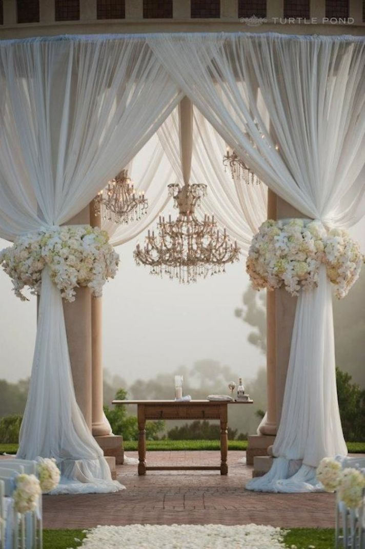 Glamorous ceremony altar