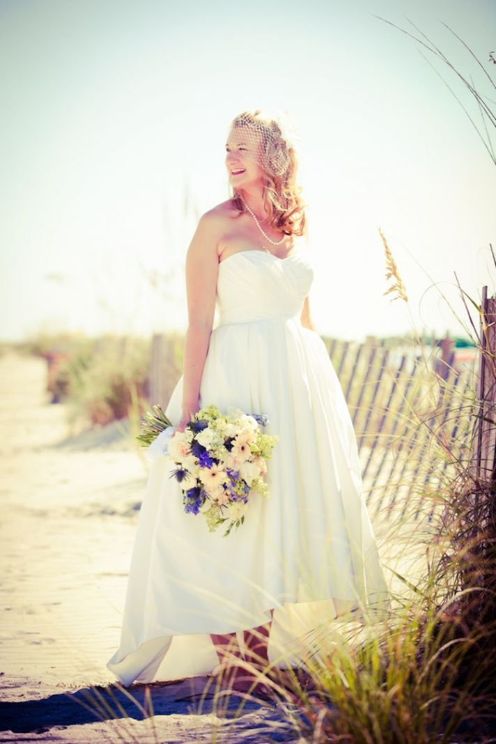 Summer beach real bride