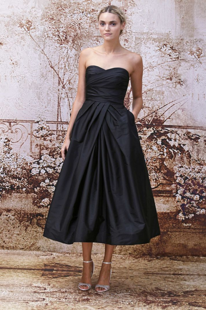 Bridesmaids style guide elegant sophistication from for Wedding dress monique lhuillier