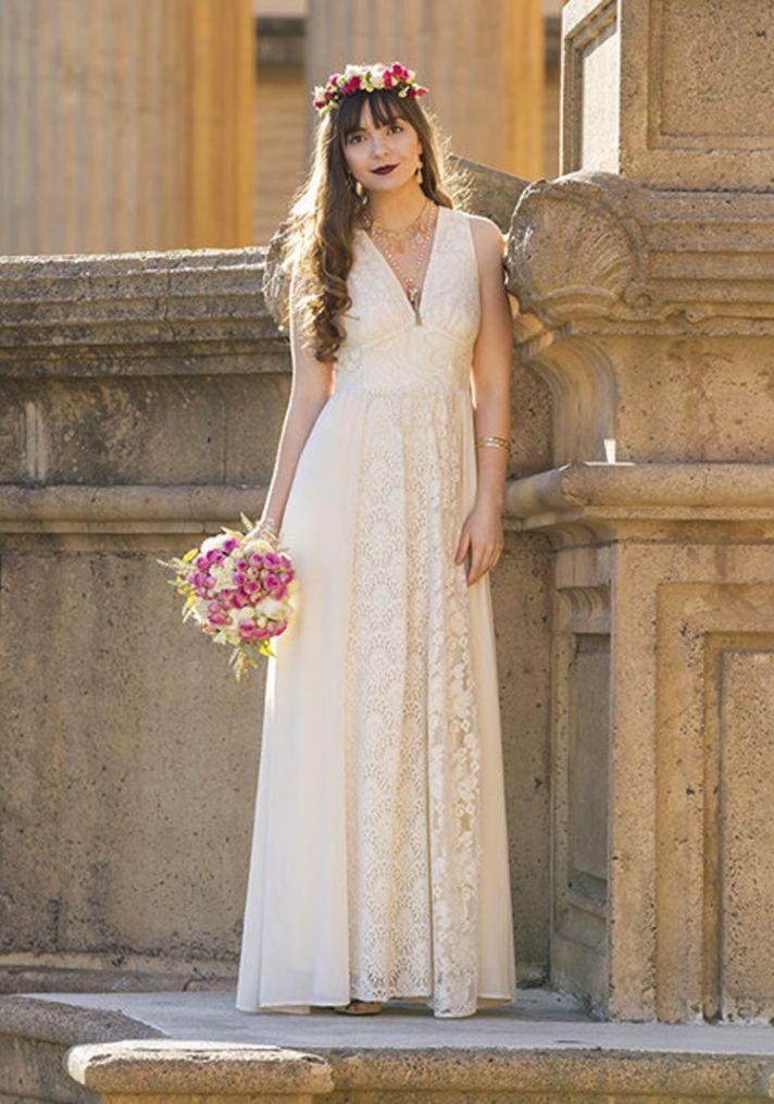 Offbeat lace wedding dress