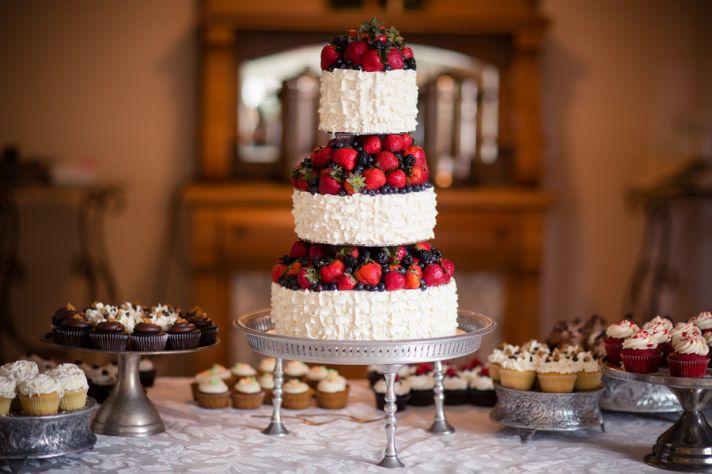 Berry wedding cake