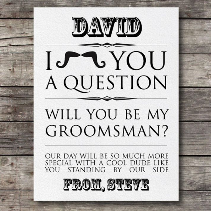 Will you be my groomsman stationery