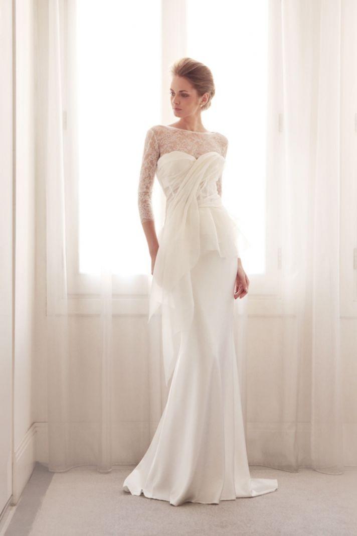 A line illusion wedding gown by Gemy Bridal