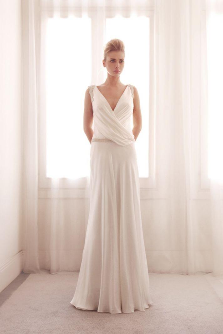 Sheath wedding gown by Gemy Bridal