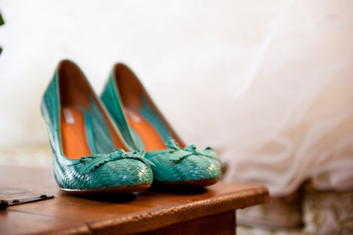 Something blue bride shoes