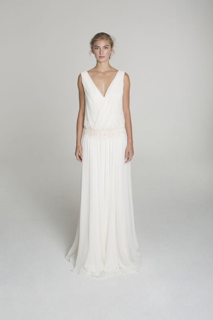 A line wedding dress from Alana Aoun