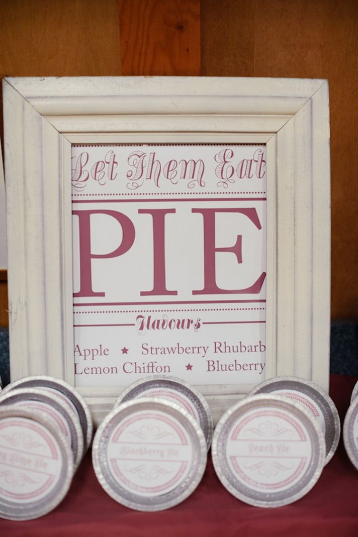 Pie dessert bar sign
