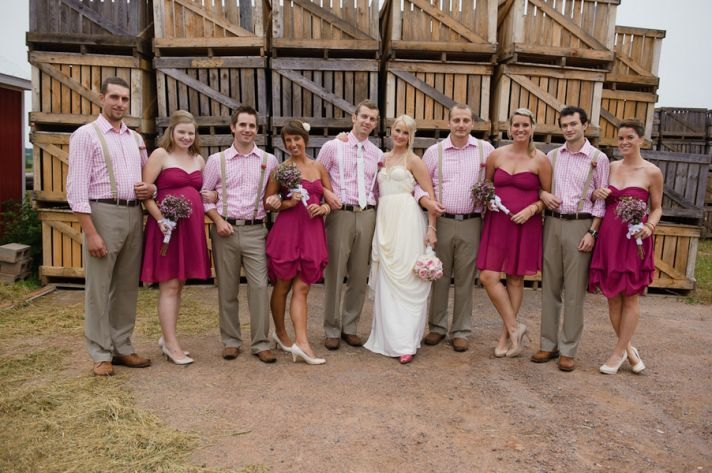 Pretty in pink bridal party