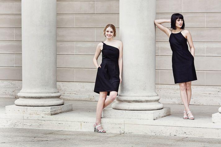 Black bridesmaids dresses by Weddington Way