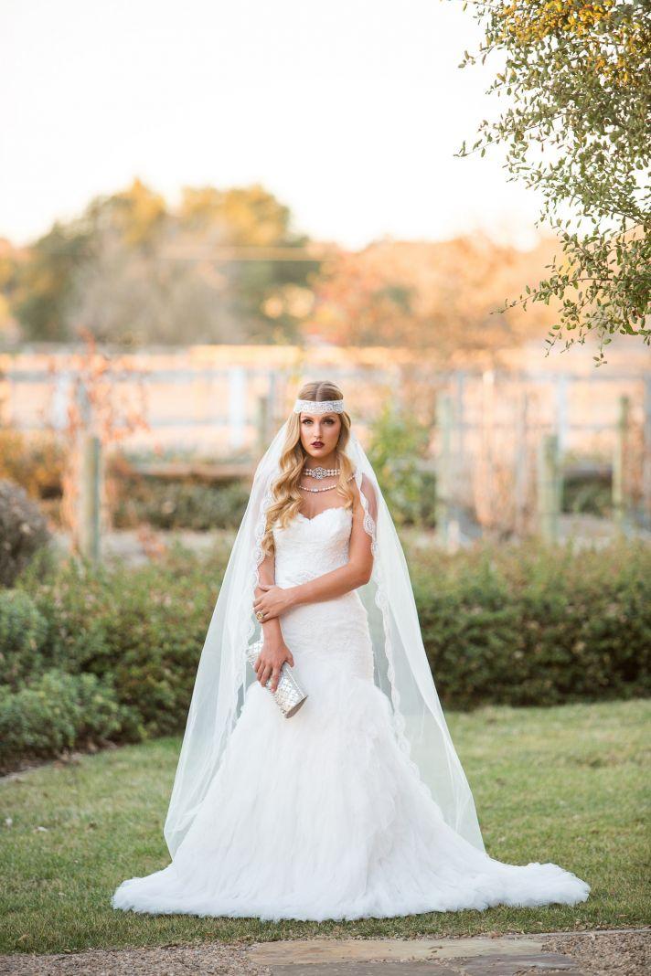 Elegant vintage bride