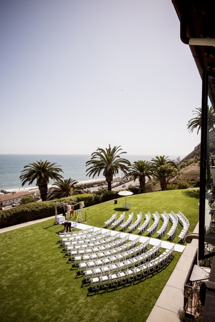 Sunny ceremony outdoors