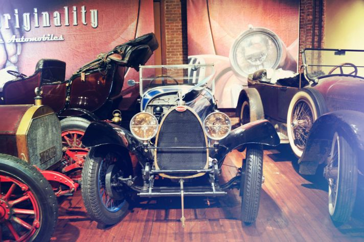 Vintage auto museum wedding venue