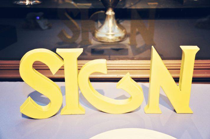 Wedding guestbook sign in yellow