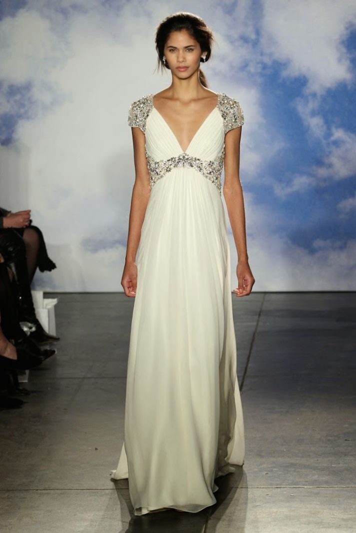 V neck grecian gown from Jenny Packham