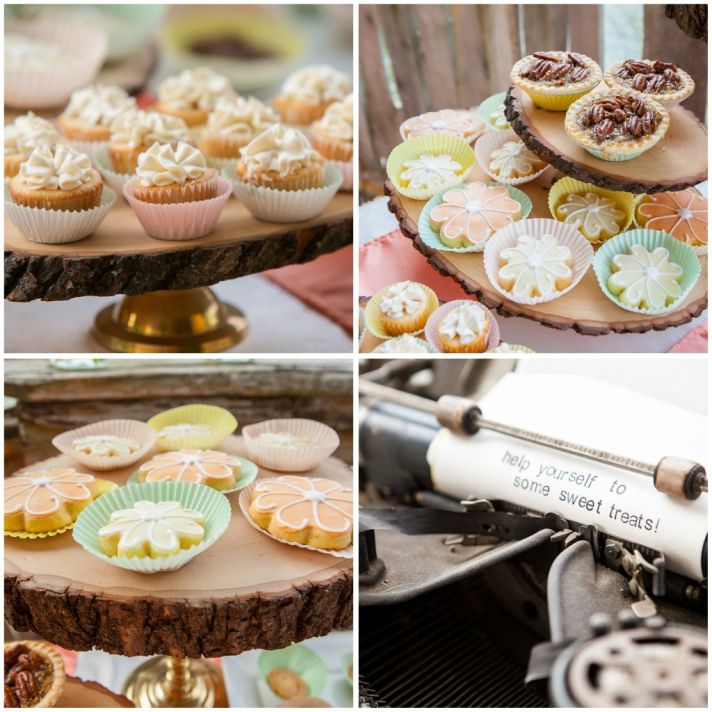 Sweets bar with a typewriter theme