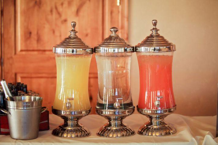 Drink display for a Utah wedding reception